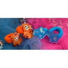 Tiger & Elephant Hair Bobbles - Wild Republic Tiger & Elephant Hair Bobblesx 4 Childrens Animal Hair Accessory