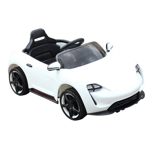 HOMCOM Children Kids Electric Ride on Car 6V Battery Operated Toy Car with Remote Control White