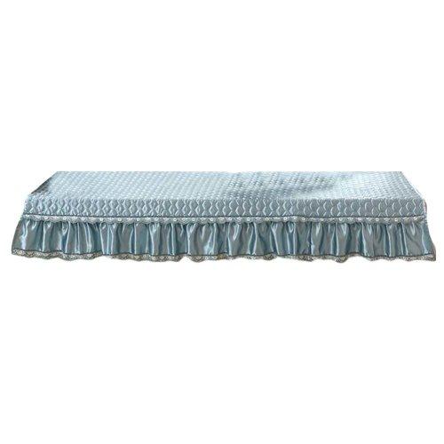 [Aqua] Bay Window Mats Window Bench Mat Sofa Cover, No Cushions, 27x47inch