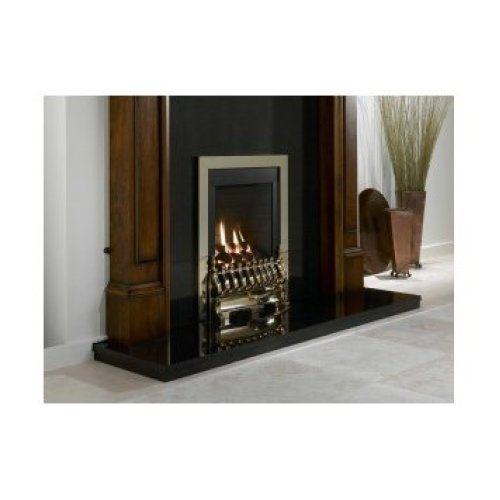 Designer Fire - Flavel FSRC1PMN Brass Windsor Traditional Slimline Gas- MC