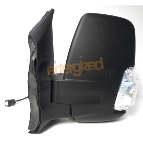 Ford Transit Mk8 (2014 On) Black Manual Short Arm Wing Door Mirror Passenger Side
