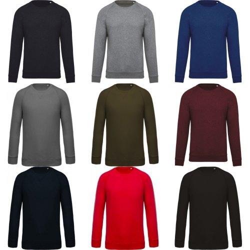 Kariban Mens Organic Raglan Sweatshirt