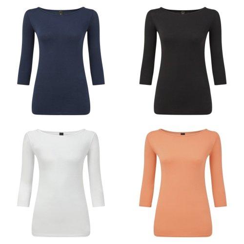 Anvil Womens/Ladies Stretch 3/4 Sleeve Tee
