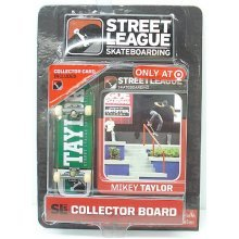 Street League Skateboarding Pro Series 1 Green Skateboard & Mikey Taylor Collector Card Target Exclusive