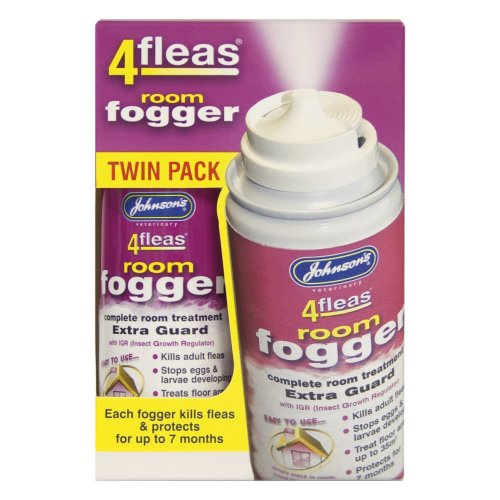 Johnson's Vet 4 Fleas Room Fogger Spray Twin Pack