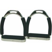 Flexi Stirrups with Black Treads: 5.25 Inch