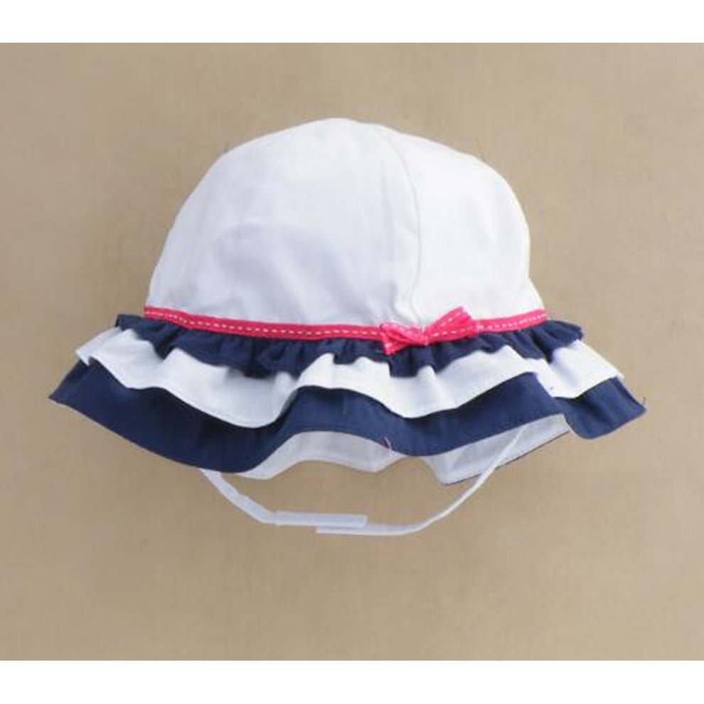 ... Summer Baby Girl Caps Cotton Sun Hat For 2-3 Years Baby White - 1.   88eab6544162