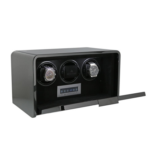 3 Watch Winder Carbon Fibre Finish the Premier Collection by Aevitas