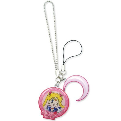 Cell Phone Charm - Sailor Moon - New Moon and Crescent Moon Licensed ge6278