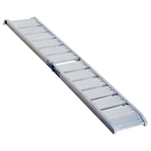 HOMCOM 6FT Aluminum Folding Wheelchair Ramp Threshold Portable Equipment Pet Mobility