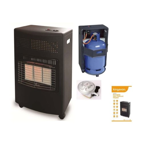 4.2Kw Portable Butane Gas Cyclinder Heater With Regulator Fire Camping Home Heater