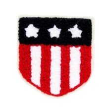 2 PCS Badge Wool Cloth Patches Sticker Sew On Applique-01