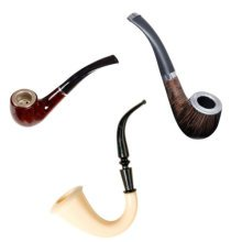 145mm Novelty Fancy Dress Assorted Pipe - One Supplied -