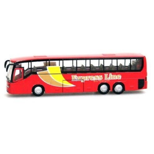 TEAMSTERZ CITY COACH RED BUS EXPRESS LINE 1.50 SCALE BOYS DIECAST VEHICLE TOY