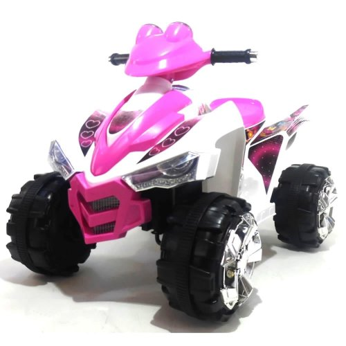 Predatour 12v Two Speed Electric Ride on Kids Quad Bike - Pink