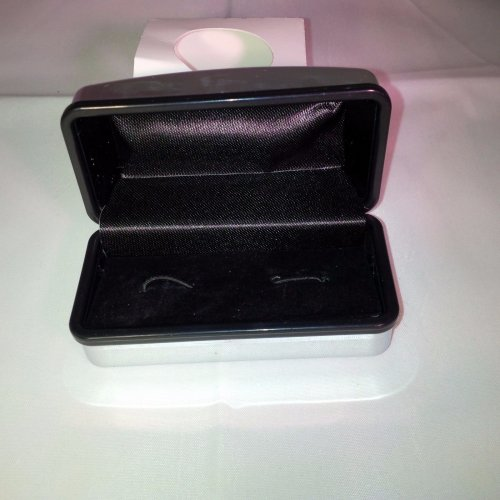 Chrome Cufflinks Box - Replacement Plastic & Material Cuff Links Box