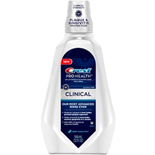 Crest Pro-Health Clinical Deep Clean Mint Oral Rinse 32 oz (Pack of 2)