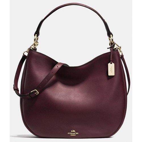 COACH Nomad Hobo in Glovetanned Leather Handbag - Oxblood / Red - 36026-LIOXB