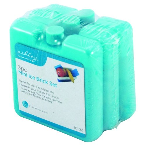Pack Of 3 Mini Ice Blocks Freeze For  Cooler Bags & Picnics Great For Travel & Reusable