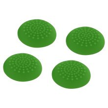 ZedLabz convex soft silicone thumb grips for Sony PS4 controller analog sticks - 4 pack green