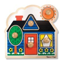 Melissa & Doug 12053 First Shapes Peg Puzzle (Large)
