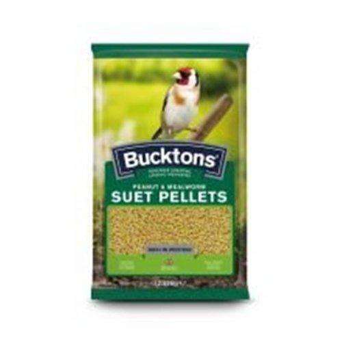 Bucktons Suet Pellets Peanut & Mealworm, 12.55kg