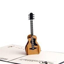 95e7f3cea41e Paper Spiritz Guitar 3D Pop up Birthday Card Wedding Christmas Anniversary  - Laser Cut Pop up Card Love All Occasion - Handmade Thanksgiving.