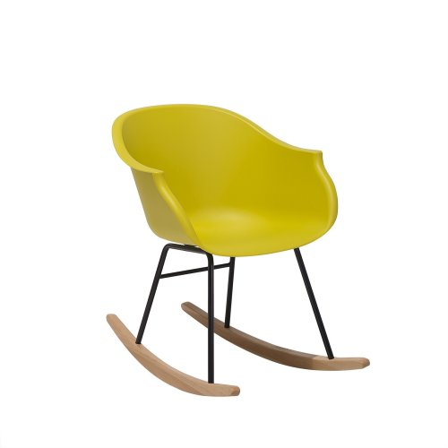 Rocking Chair Plastic Yellow HARMONY