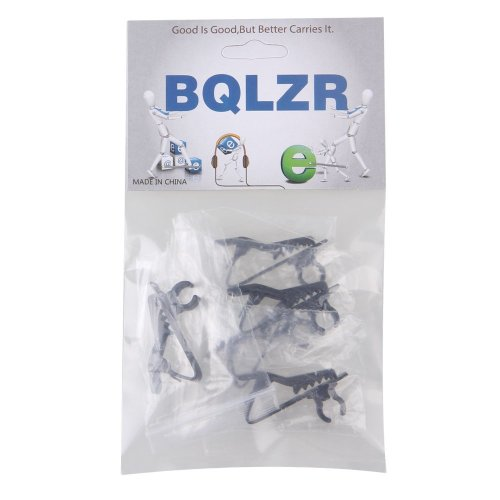 BQLZR Black Metal 6mm EY-J02A Microphone Lapel Clip For Wireless Microphone System Pack of 5