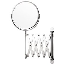 Chrome Extending Magnifying Bathroom Make Up Shaving Wall Mounted Mirror
