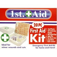 20pc Piece First Aid Kit For Home / Travel Etc -  first aid kit emergency home travel 20pc work safety life protection