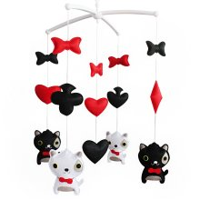 Cute Baby Boy & Girl Bedding Rattle Toy, Modern Crib Mobile [Kitty]