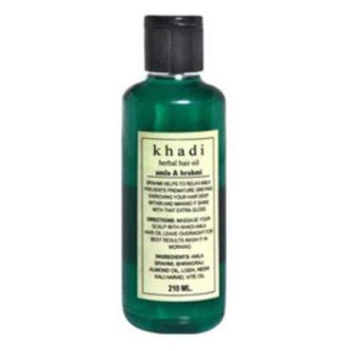 3 Pack Khadi Amla & Brahmi Hair Oil 210ml each
