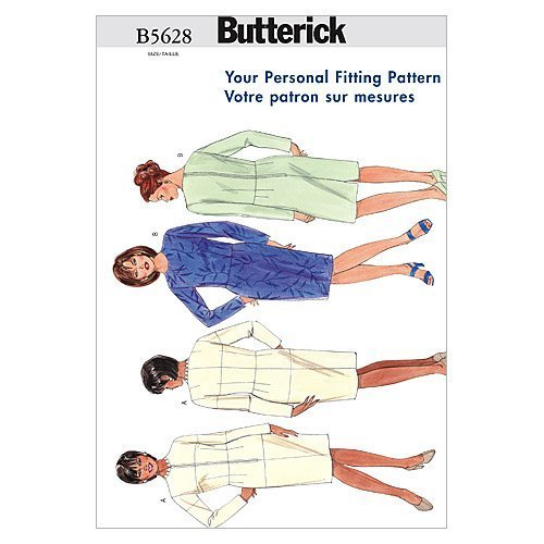 Butterick Patterns B5628 Size 24W Womens Fitting Shell, Pack of 1, White