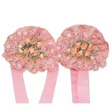 1 Pair Pretty Lace Flowers Curtain Tiebacks Curtain Buckles Pink