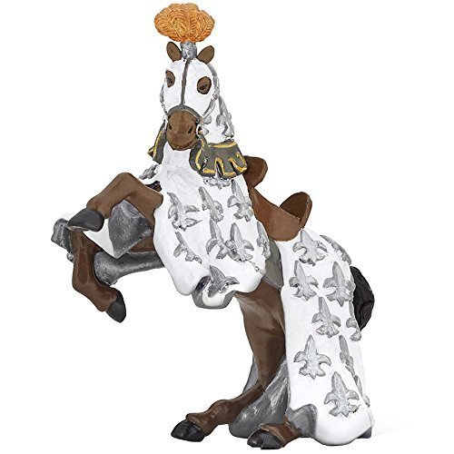 "Papo ""prince Philips Horse"" Figure (white) - White Prince Horse 39792 Philip -  papo white prince horse 39792 philip figure new philips 13 cm knight"