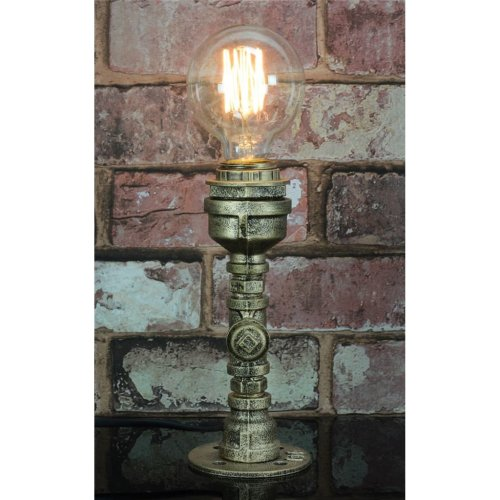 Retro Industrial Table Lamp with Screw Base - Pipe Fitting - PL-207P