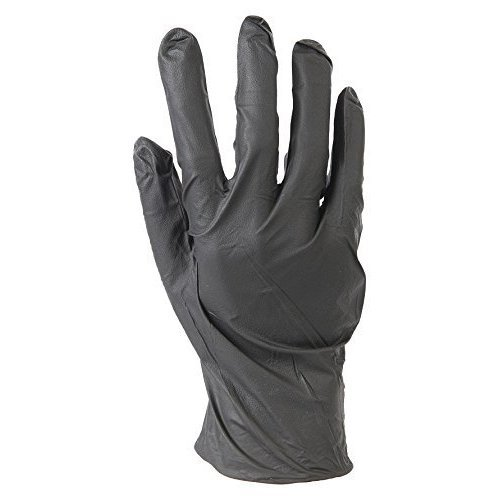 Silverline Disposable Nitrile Gloves Powder-free 100pk Black Large