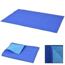 vidaXL Picnic Blanket Blue and Light Blue 100x150 cm