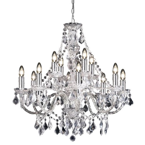 Classical Marie Therese Style 12 Arm Clear Acrylic Chandelier