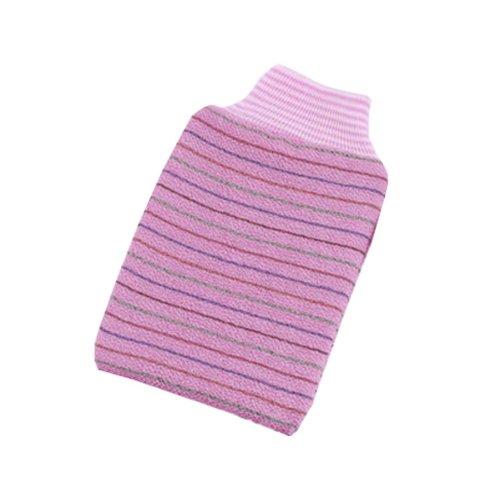 Striped Single Bath Towel Exfoliating Rubbing Towel,Pink