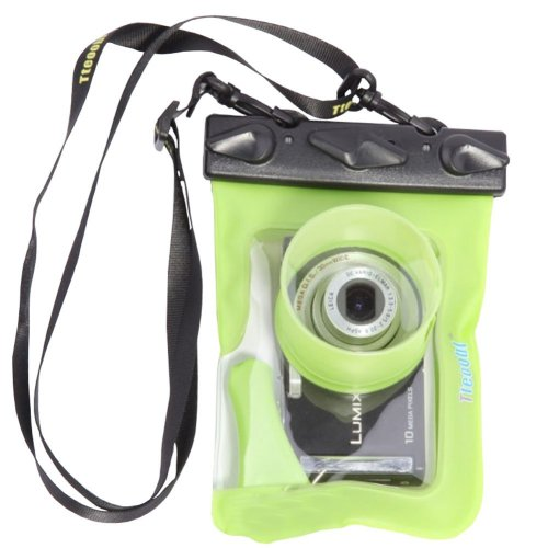 "5.3""*4.1""GREEN Waterproof Underwater Swimming Diving Card Camera Dry Bag Pouch"
