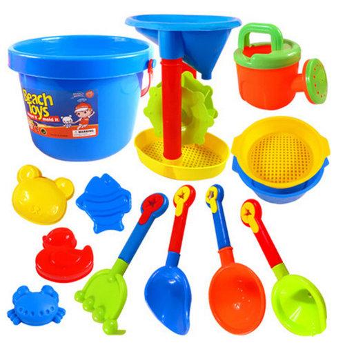 Beach Kids' Sand Toys Children's Seaside Toys Set Random Color 13 Pieces