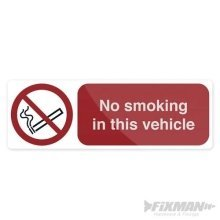 No Smoking Sign For Cars Vans Or Lorrys