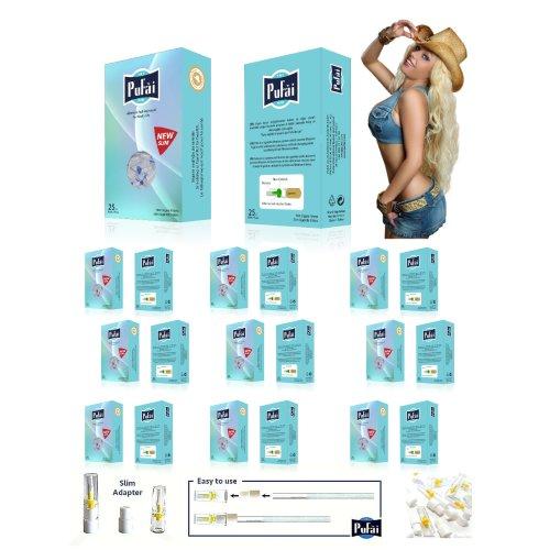 Pufai Super Slim Cigarette Filters fİT  5mm 6mm 250 Pieces 10 Boxes