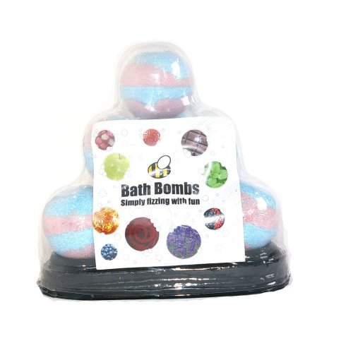 Bath Bomb Pyramid Gift Set, 10 x 65g Bath Bombs