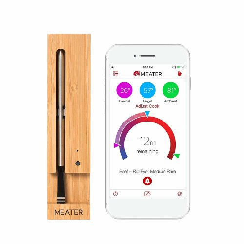 Meater Smart Wireless Meat Food Thermometer App Compatible with iPhone,  iPad, Android, Kindle Fire and Alexa Skill