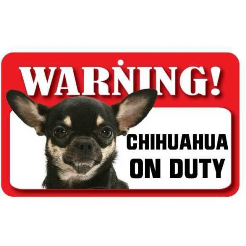 Multi Coloured Chihuahua Pet Sign