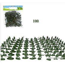100Pcs Small Toy Soldier Sand Table Model Of The Plastic Toy Soldiers,The Best Gift Children Boys, 12 Styles,Green