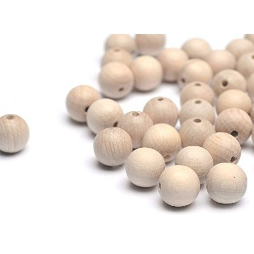 Beads Unlimited 10 mm Wood Round Unvarnished, Pack of 100, Natural